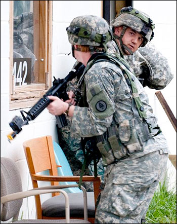 Democrat wants National Guard troop response to gun violence. Photo: Muscatatuck Urban Training Center