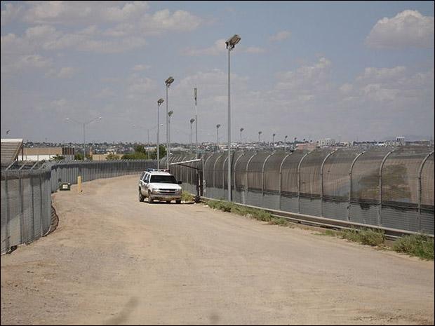 U.S. border fence near El Paso.