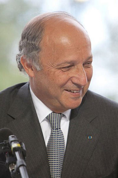 French Foreign Minister Laurent Fabius, Courtesy CC Wikimedia