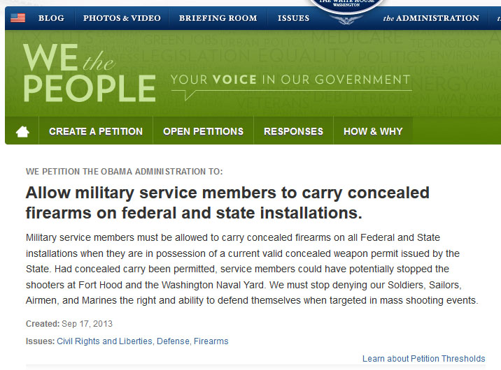 military-petition-conceal-open-carry