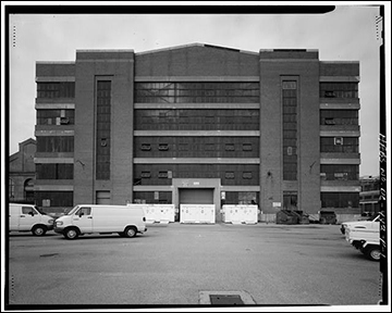 South (front) elevation, looking north - Navy Yard, Building No. 197