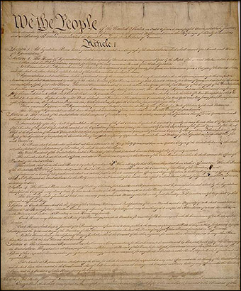 Students weren't taught about the Constitution and the Bill of Rights before they were assigned to destroy them. (Photo: Public domain)