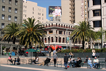 A view of Union Square in San Francisco, Calif. (Credit: Aude via Flickr)