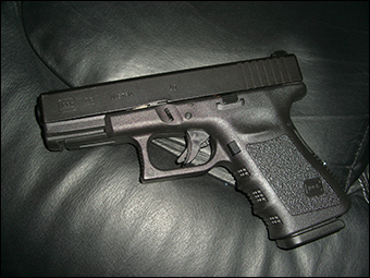 A Glock 23, commonly issued by the Dept. of Education OIG.