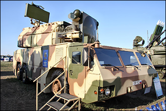 A Tor M-2 displayed at a military show in Russia.  Source: Vitaly V. Kuzmin