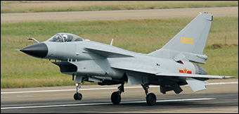 The Chengdu J-10 was designed to be a multi-role, all-weather aircraft.  Credit: Retxham via Flickr