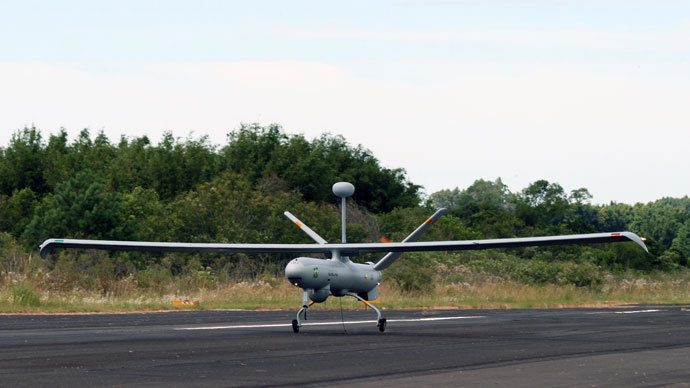 The Brazilian air force purchased Hermes 450 drones, shown here, from Israeli arms manufacturer Elbit Systems, the company announced in January 2011. (AFP Photo / Elbit Systems)