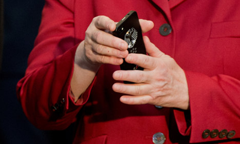 Merkel's Blackberry was encrypted but her Nokia phone was not. Photo: DPA
