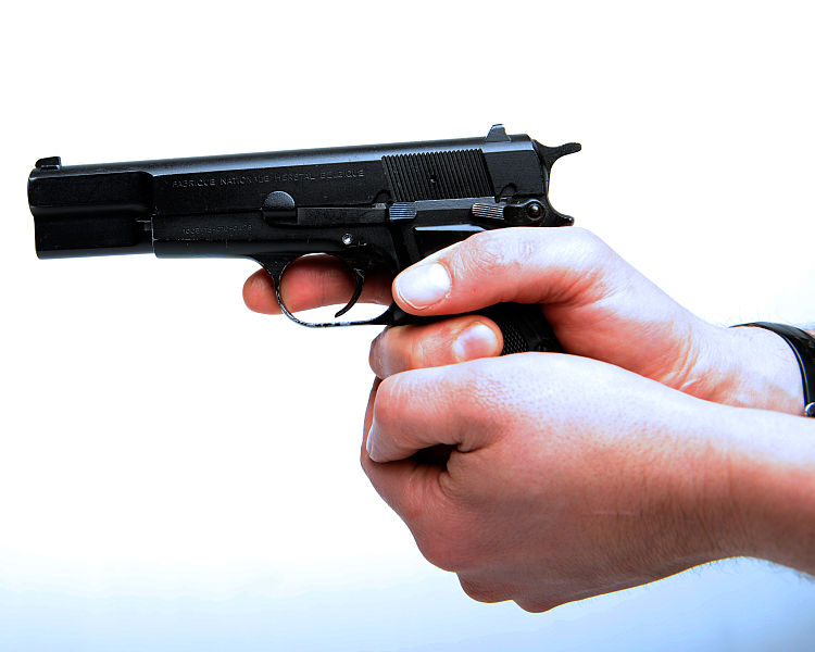 Browning 9mm pistol, 13 round magazine would be banned under new laws.