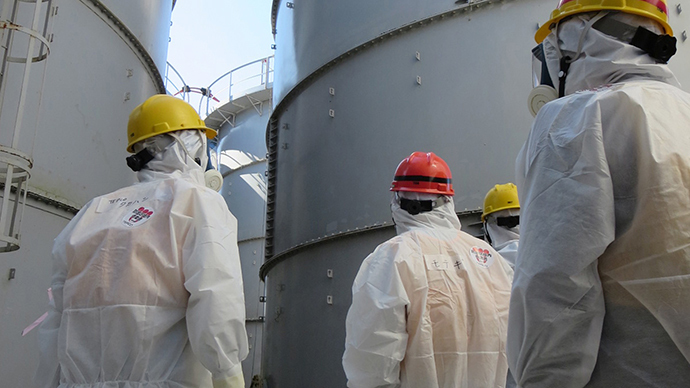 TEPCO's Fukushima Dai-ichi nuclear power plant in the town of Okuma, Fukushima prefecture. (AFP Photo / TEPCO)