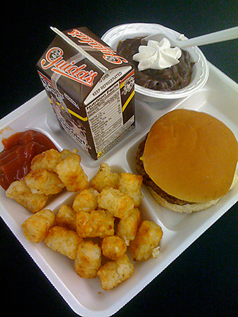 Children's school lunches keep getting smaller and smaller due to federal regulations. Credit: Ben+Sam via Flickr