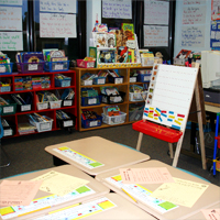 A typical first grade classroom the United States. Credit: Stilfehler via Wikimedia