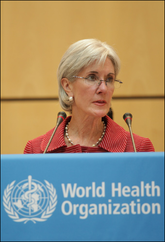 If she's still the health secretary in 2015, Kathleen Sebelius will tell doctors how to practice medicine even though she has absolutely no medical experience. Credit: United States Mission Geneva via Wiki