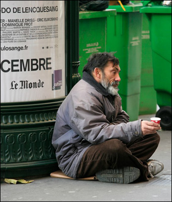 As France becomes more socialist, more people become homeless.  Credit: russavia via Flickr