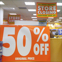 The majority of the businesses that have closed down due to the recession never came back. Credit: janetmck via Flickr
