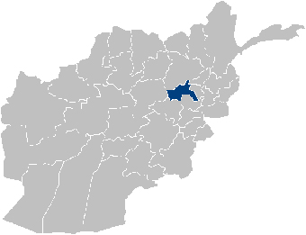 The Parwan province of Afghanistan is shown above in blue.