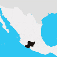 The location of Michoacán (shown in black) within Mexico.