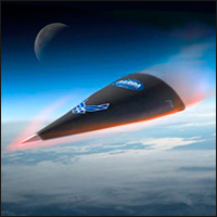 Artist's rendition of DARPA's Hypersonic Technology Vehicle HTV-2, which would likely share similar characteristics.