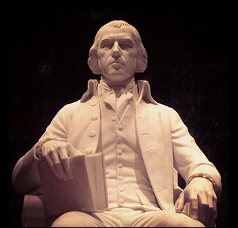 James Madison introduced the Tenth Amendment to Congress, which states that powers not granted to the federal gov't are reserved to the States or the people.