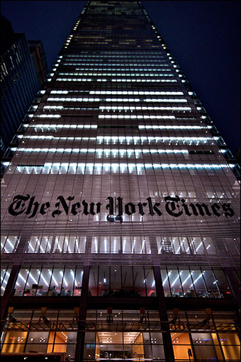 The New York Times burns another source. Credit: paalia via Flickr