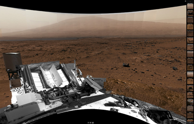 Billion-Pixel View From Curiosity at Rocknest (Mars)
