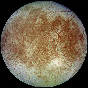 Jupiter's ice-covered satellite, Europa