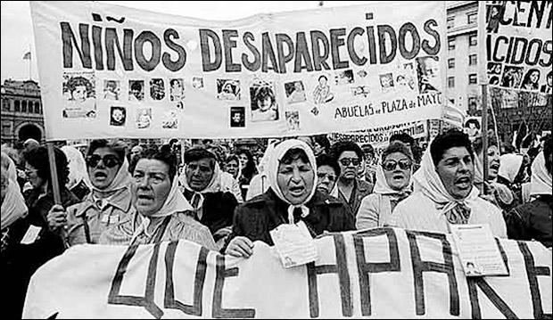 "Argentina's disappeared children from ""Las Abuelas de la Plaza de Mayo."" Photo: Latin American and Latino Studies Program at Wake Forest University"