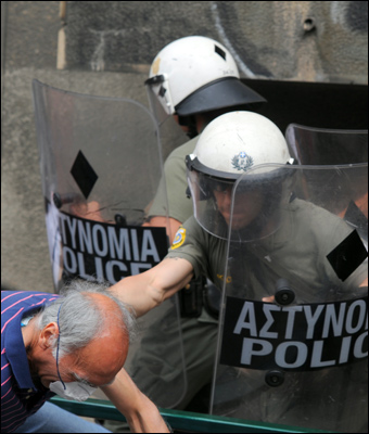Greece, which has been practically destroyed economically, has seen numerous protests over the past several years. Credit: Ggia via Wiki