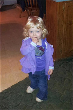 2-year-old Alexandria Hill died last year in CPS custody, via Facebook