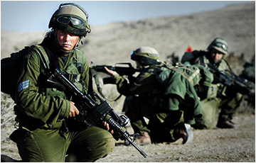 IDF unisex Caracal Battalion, which serves in routine security missions.