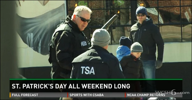 TSA confusingly present at non-transportation related event. / Photo: WCSH