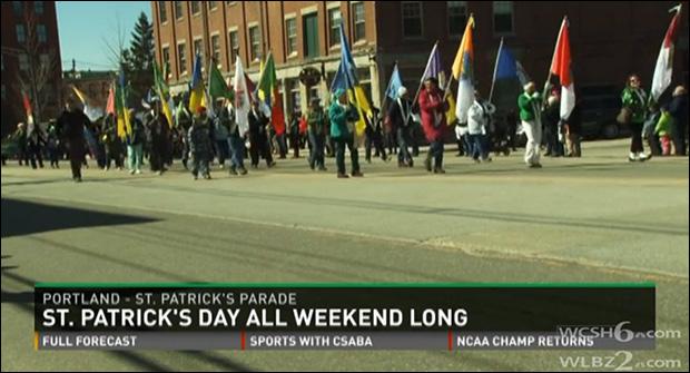 St. Patrick's Day celebration, Portland, Maine / WCSH