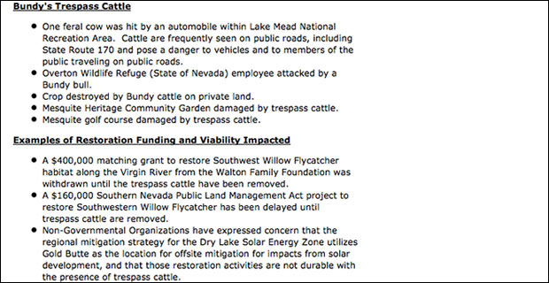 The second segment of the document pulled by the feds from BLM.gov.