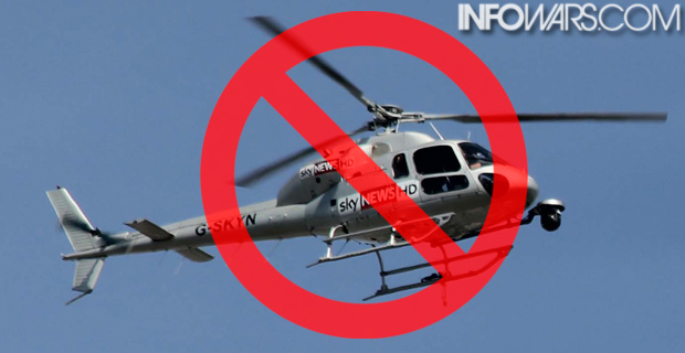 """The BLM """"no-fly zone"""" is targeting news helicopters covering the story. Original photo credit: Peter Clarke / Wiki"""