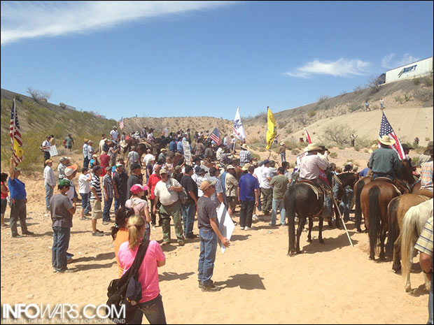 Bundy supporters anticipate the release of cattle after BLM backs down.