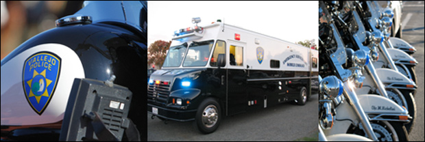 Image at Vallejo PD website shows fully decked out SWAT van, though city has twice filed for bankruptcy since 2008. / ci.vallejo.ca.us