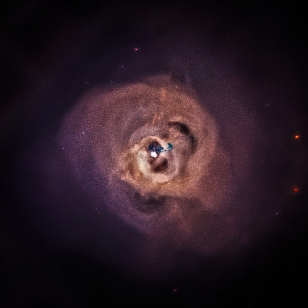 This composite image of the Perseus Cluster combines data equivalent to more than 17 days of observation time over a decade.