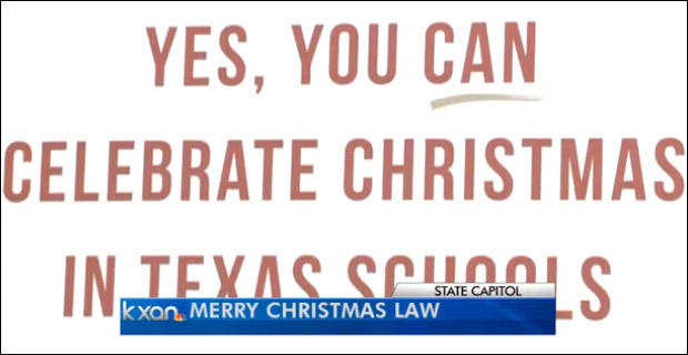 Leftist, PC ridiculousness was so out-of-control, TX lawmakers had to pass a bill legalizing the utterance of a phrase. / Photo credit: KXAN.com