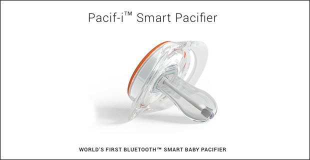 'Smart' Pacifier Tracks Tots and Takes Temperature, While Bathing them in Radiation