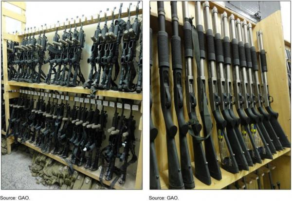 U.S. firearms supplied to the Interior Ministry in Yemen, which has received $500 million in aid from the United States since 2007 under an array of Defense Department and State Department programs. (GAO)