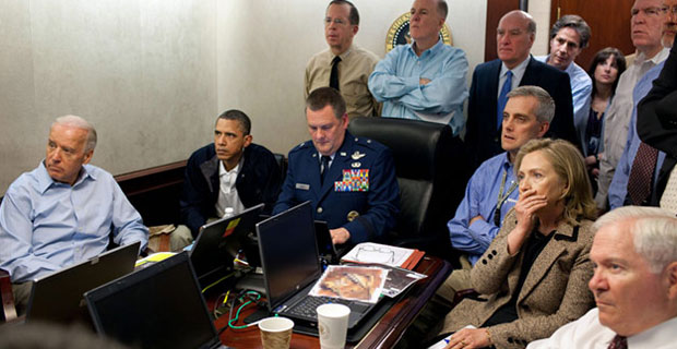 Staged photo op: the CIA admitted there was a blackout during the supposed assassination of Osama bin Laden.