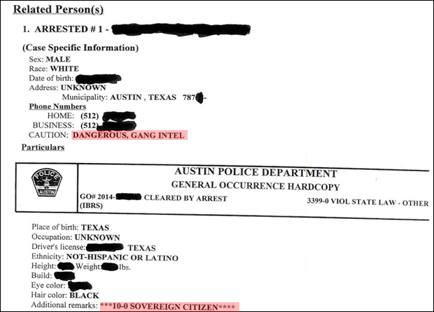 Austin Police Label Infowars Engineer 'Sovereign Citizen,' Gang Member for Challenging Improper Application of Traffic Law