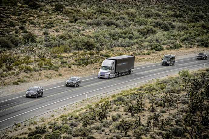World's first self-driving truck takes to the highways in Nevada
