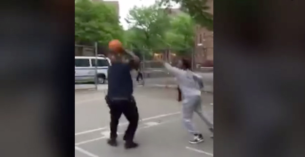 Two NYPD Cops Seen Shooting… Hoops!