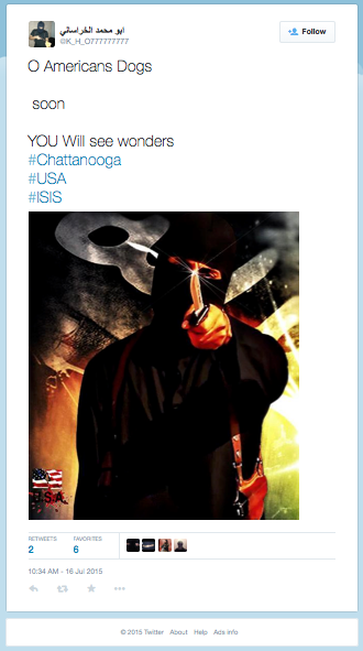 Suspected ISIS Twitter Account Claims Responsibility for Chattanooga Shooting