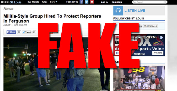 "CBS News Reports Fake Story on Infowars ""Hiring"" Militia"