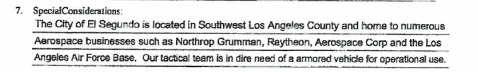 Armored Vehicle Request Documents Show Local Law Enforcement Still Looking To Bring The (Drug) War To Your Doorstep
