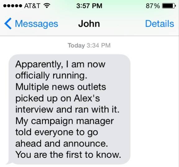 Exclusive Interview: John McAfee Announces White House Bid