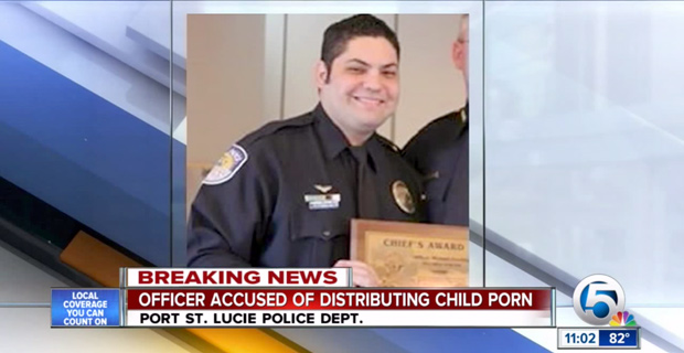Florida 'Officer Of The Year' Arrested On Child Porn Charges