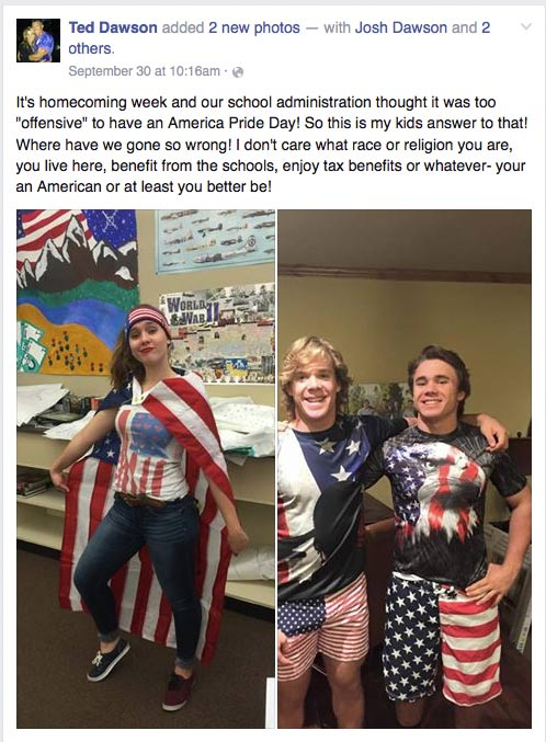 School Bans 'Offensive' America Day Celebration